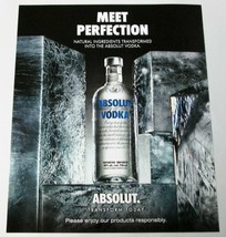 MEET PERFECTION Canadian ABSOLUT Vodka Magazine Ad - FREE SHIPPING U.S. ... - $8.00