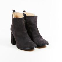 Pura Lopez  Gray Suede Zipped Block Heel Platform Ankle Boots SZ 39 - £80.16 GBP
