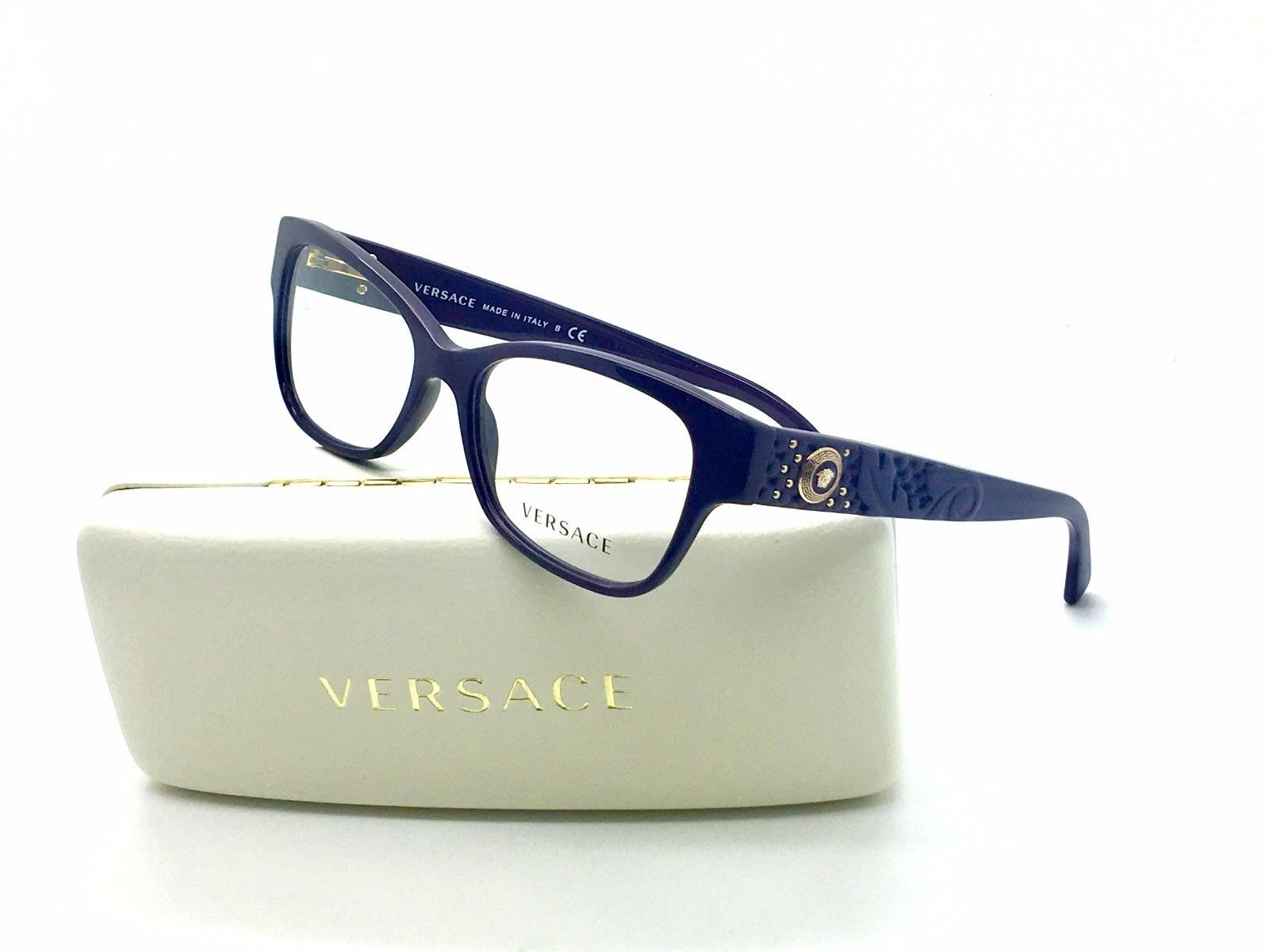 30322aee75 New Versace Purple MOD 3196 Eyeglasses and 50 similar items. 57