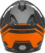 New XL GMax GM-11 Scud Matte Black/Orange/Gray Dual Sport Adventure Helmet DOT image 2