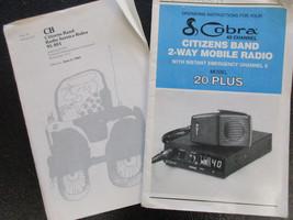 cobra 40 channel model 20 plus cb radio operating instructions - $5.89