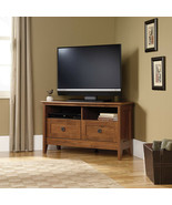 Corner Entertainment TV Stand Wooden Cabinet TVs 40 Media Storage Shelf ... - $172.46