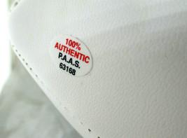 BRIAN URLACHER / AUTOGRAPHED CHICAGO BEARS LOGO WHITE PANEL FOOTBALL / COA image 4