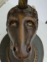 Imposante Unicorn wood sculpture carved Antique 1900 German Black Forest RARE ! image 6