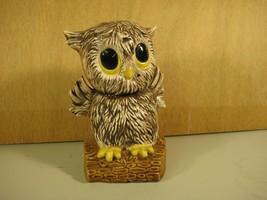 Ceramic Cute Big Eyed Handpainted Owl Figurine  - $12.25