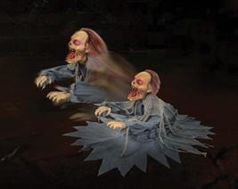 LUNGING  ZOMBIE REAPER Animated Halloween Animatronic Jumping Halloween ... - $68.95
