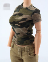 """1/6 Female Short-sleeved Camouflage T-shirt F 12"""""""" Action Figure - $25.00"""