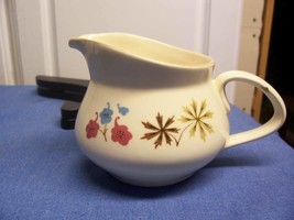 Franciscan Larkspur Creamer Floral Starburst Orange Brown Blue - $10.44