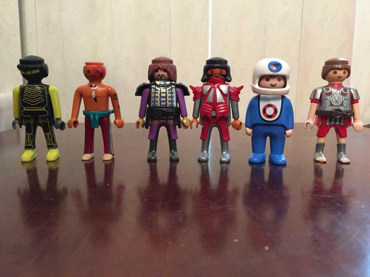 #      PLAYMOBIL PEOPLE ACTION FIGURES LOT OF 6  - $10.00