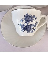 Royal Blue Ironstone Enoch Cup Saucer Wedgwood Tunstall England Coffee Tea - £2.07 GBP