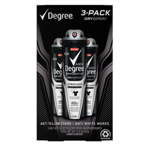 Degree Motionsense DrySpray for men Ultraclear Black & White 3.8 oz 3 PK - $24.74