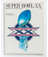 Super Bowl XX Program, Chicago Bears vs. New England Patriots, New Orlea... - $20.00
