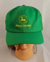Vintage John Deere Trucker Snap Back Hat Green Mesh Avon Sportswear Cap ... - $18.66