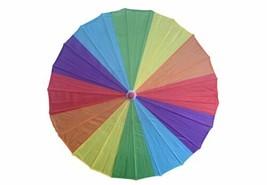 Wood Handle Lightweight Rainbow Umbrella Parasol 16 Inches Small - $14.00