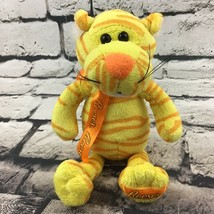 """Reeses 6"""" Tiger Plush Yellow Orange Striped Candy Ad Stuffed Toy Hershey Co - $9.89"""