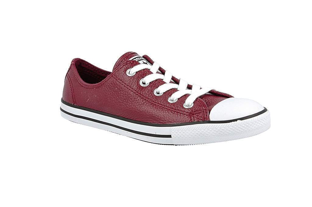 Women Converse Chuck Taylor Dainty Leather Low Top Sneaker, 544850C Size 5 O
