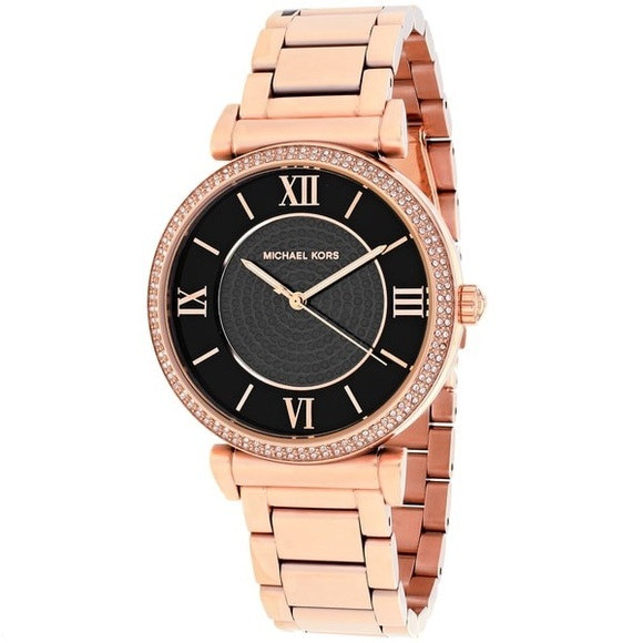 f3187c4c301e M 5a08a90b713fde3910129ae7. M 5a08a90b713fde3910129ae7. Previous. Michael  Kors mk3356 Ladies Catlin Rose Gold Watch With A Black Dial