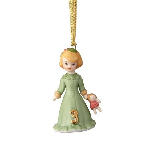 Department56 Enesco Growing Up Girls Blonde Ornament - Age 3 Multicolor - $17.33