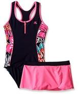 ZeroXposur Big Girls Hula Haku One Piece Swimsuit with Skirt, Barbie, 14 - $49.49