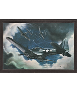 """4"""" X 6"""" Wooden Plaque with a Painting of a Douglas SBD-5 Dauntless Diveb... - $7.87"""