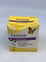 Freestyle InsuLinx 50 Ct Diabetic Test Strips: Expired 1/19: New Factory... - $15.84