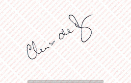 CHRIS DE BURGH VINTAGE GENUINE AUTOGRAPH ON WHITE PAPER - $12.74
