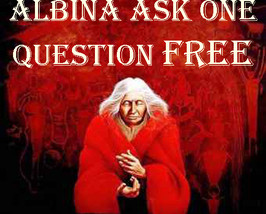 FREE! ALBINA WILL ANSWER ONE QUESTION READING W/ ANY $40 ORDER MAGICK CA... - $0.00