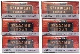 18 Trader Joes 72% CACAO Dark Chocolate Candy Bars - $26.72