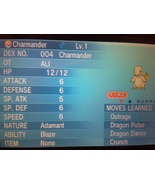 Pokemon ORAS X Y Perfect 6IVs Kalos Born Shiny Bulbasaur, Charmander  Sq... - $5.00