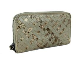 Auth Bottega Veneta Intrecciato Leather Zip Round Bifold Long Wallet It... - $197.01
