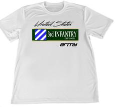 United States Army Third Infantry Wicking T-Shirt w Flag Car Coaster - $14.80+