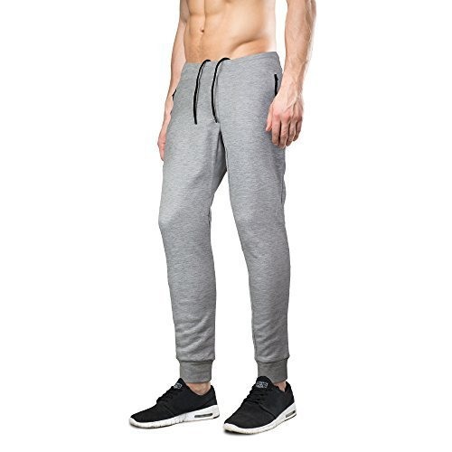 Indigo people Men's Limited Edition Slim Fit Jogger Sweat Pants (Small, Grey)