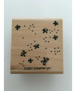 Stampin Up Rubber Stamp Beyond Basics Background Butterflies Card Making... - $2.99