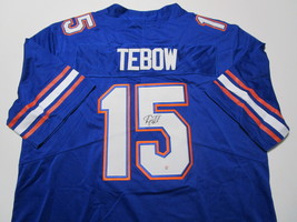 TIM TEBOW / HEISMAN WINNER / AUTOGRAPHED FLORIDA GATORS PRO STYLE JERSEY / COA image 1