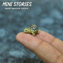Dollhouse Miniature Animal Fairy Garden Tiny Green Turtle Figurine Set of 2 - £2.38 GBP