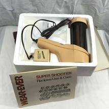Vintage Wear Ever Super Shooter Electric Food Gun Cookie Press COMPLETE;... - $39.95