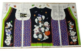 Daisy Kingdom Boo! Vest Cut & Sew Fabric Panel Adult 8-22 Halloween Vest... - $9.69
