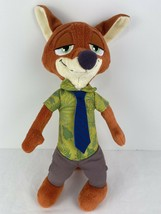 ZOOTOPIA NICK WILDE Fox TALKING Plush DOLL Figure DISNEY Stuffed Animal TOY - $12.42