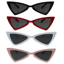 Womens Squared Triangle Cat Eye Bat Goth Sunglasses - $9.95