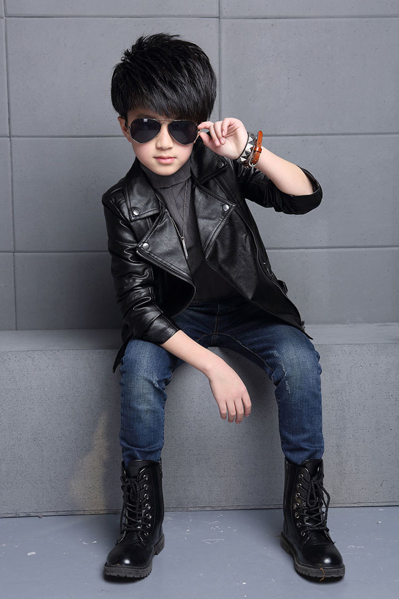 800588d22 Baby Boys Faux Leather Jacket Kids Girls And and 50 similar items
