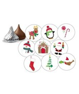 """108 CUTE CHRISTMAS HERSHEY KISS STICKERS LABELS ENVELOPE SEALS 0.75"""" GIFTS - $4.99"""