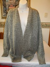 Women's Plus St. John's Bay Knit Open Cardigan Sweater Taupe 2X NEW - $29.14