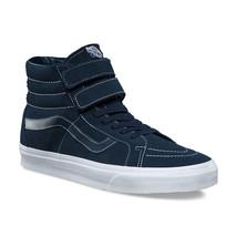 Vans Sk8 Hi Reissue V (White Stitch) Suede Navy Skate Shoes Womens Size 8.5 - $63.54