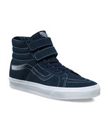 Vans Sk8 Hi Reissue V (White Stitch) Suede Navy Skate Shoes Womens Size 8.5 - $63.54
