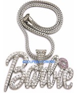 Barbie Necklace New Iced Out Pendant Style Chain Assorted Sizes - $14.95+
