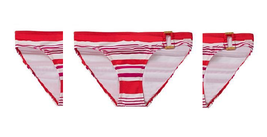 Ralph Lauren Striped Side-ring Bikini Bottom (Coral, size 8) - $34.64