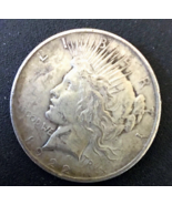 1922 P Peace Dollar, Graded FIne, Worn in Places, Rare, 90% Silver. - $30.00