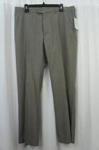 Perry Ellis Mens Pants Sz 34 x 32 Alloy Gray Plaid Business Casual Dress... - $39.53