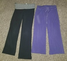 The Children's Place Fold Over Splendid Purple Yoga Pants Girls Size 6-7 - $4.88
