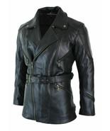 Men's 3/4 Motorcycle Biker Long Cow Hide Leather Jacket - $129.99